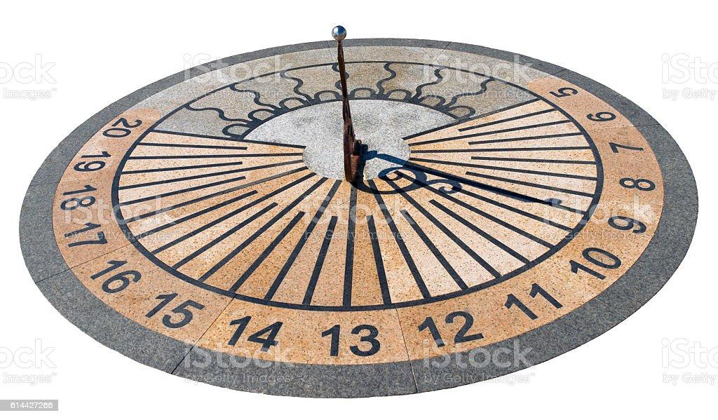 sundial isolated on white stock photo