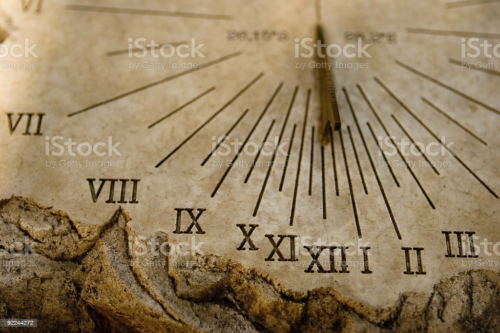 Sundial Macro stock photo