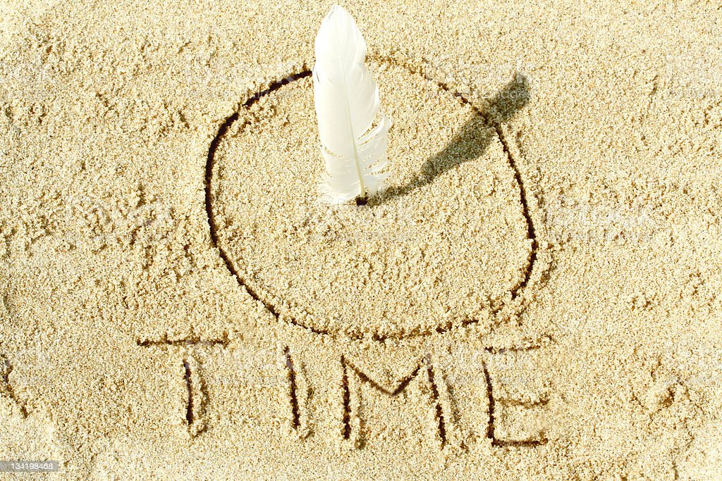 Sundial on the sand royalty-free stock photo