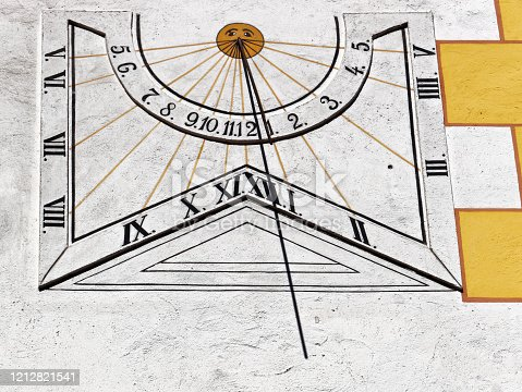 sundial with roman and arabic numerals
