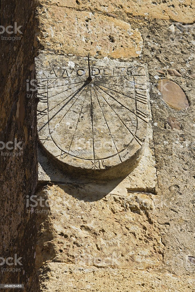 Sundial - Reloj de Sol stock photo