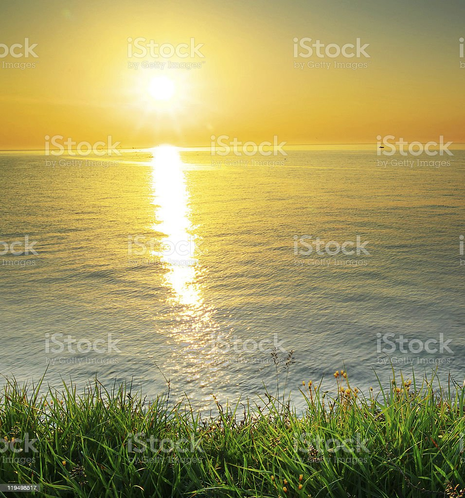 Sundown composition. royalty-free stock photo