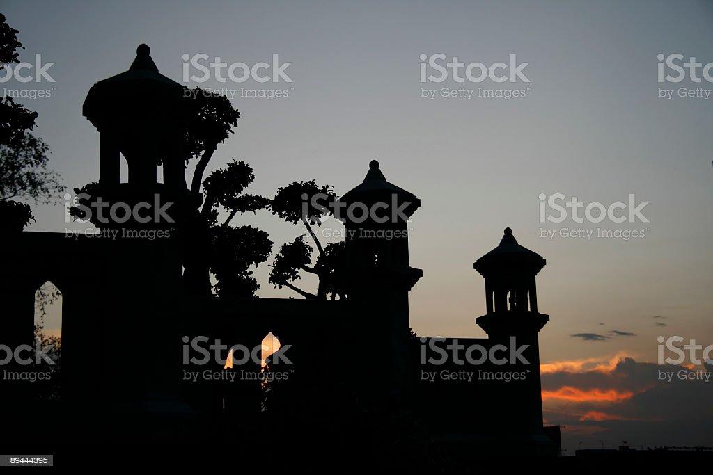 Sundown in Bangkok royalty-free stock photo