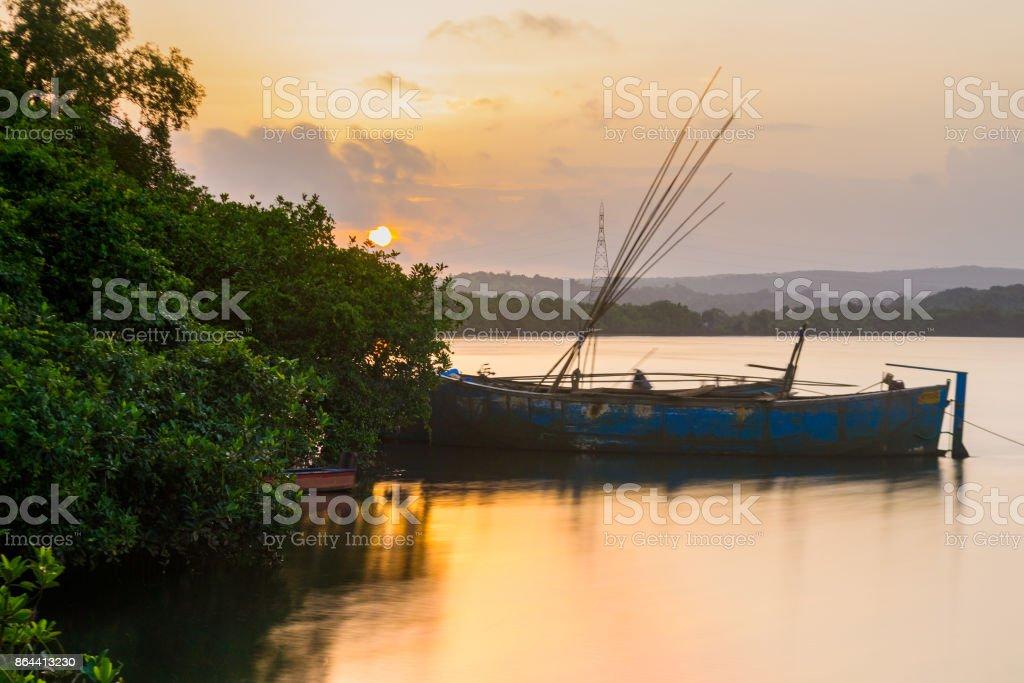 Sundown in Goa stock photo