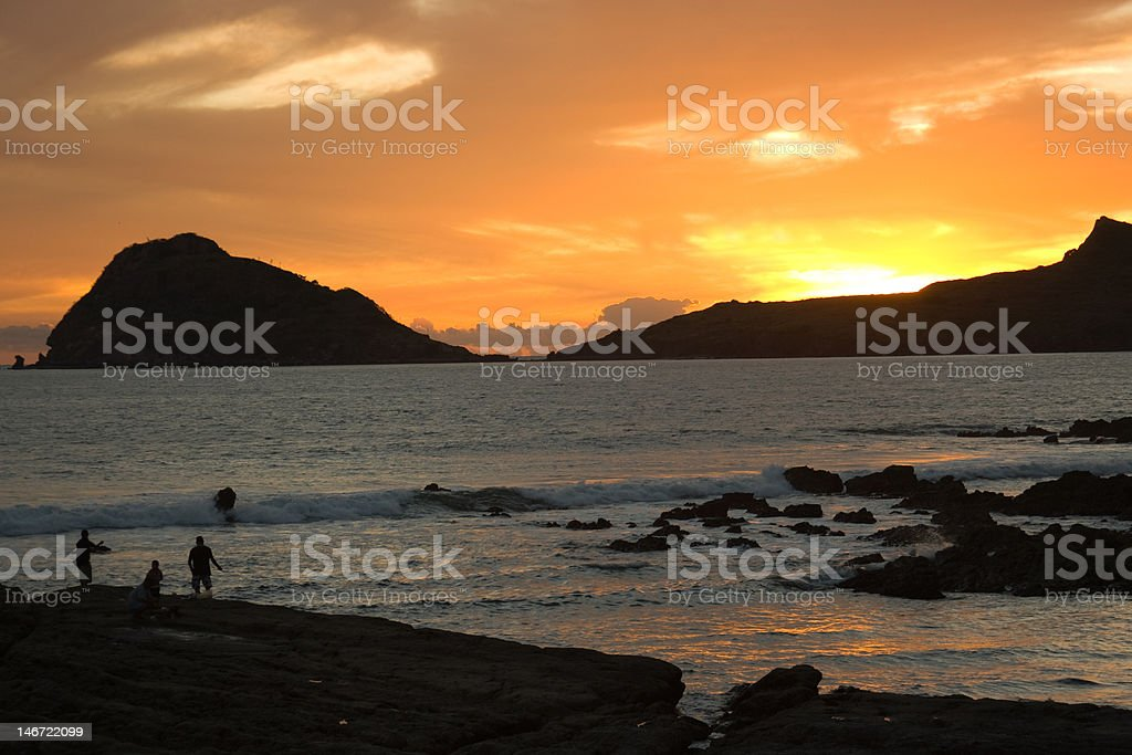 Sundown in Mazatlan Mexico stock photo
