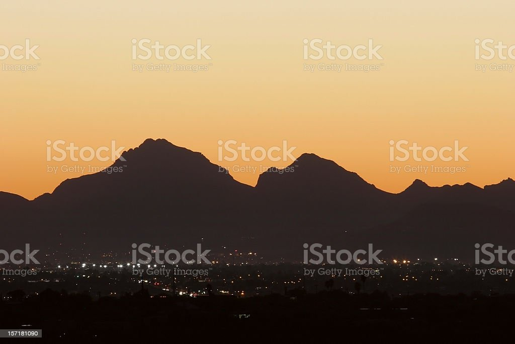Sundown in Tucson royalty-free stock photo
