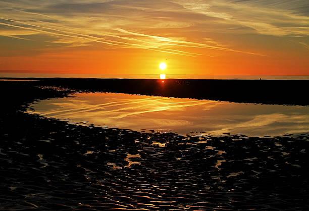 Sundown Reflections stock photo