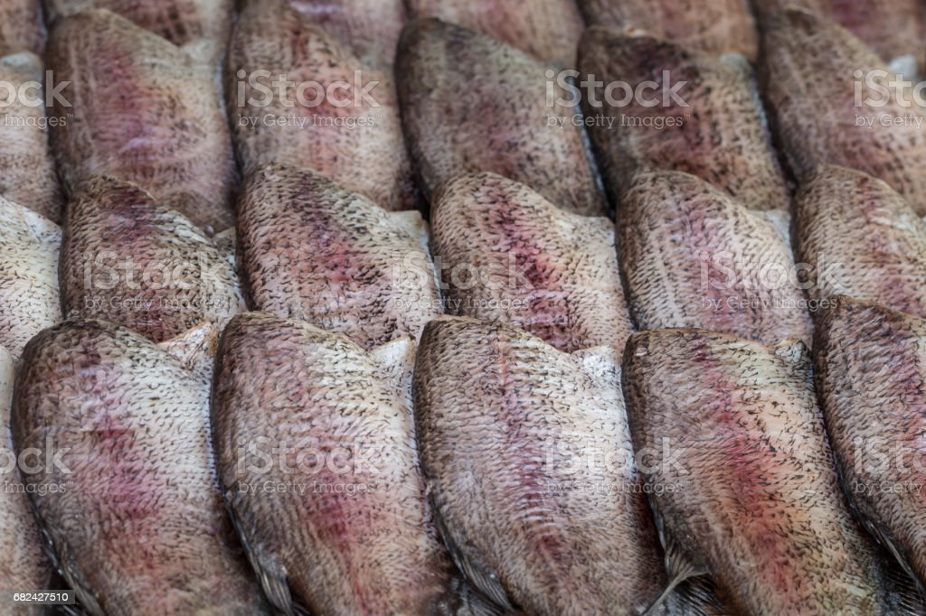 Sun-dried fish royalty-free stock photo