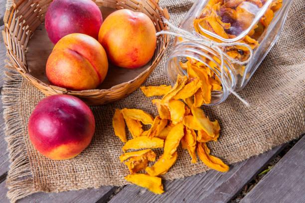 Sundried organic peach stock photo
