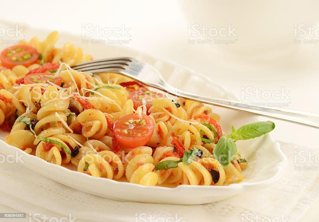Sun-dried Tomato Pasta Salad stock photo