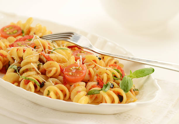 Sun-dried Tomato Pasta Salad stock photo
