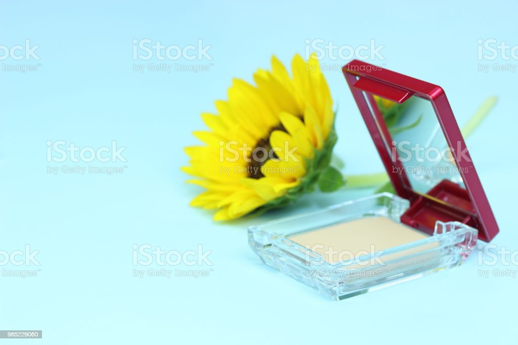 sunflower and Cosmetic royalty-free stock photo