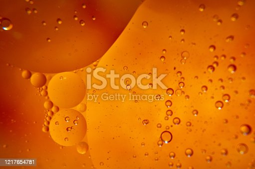 Sunflower dark oil bubbles background macro photography