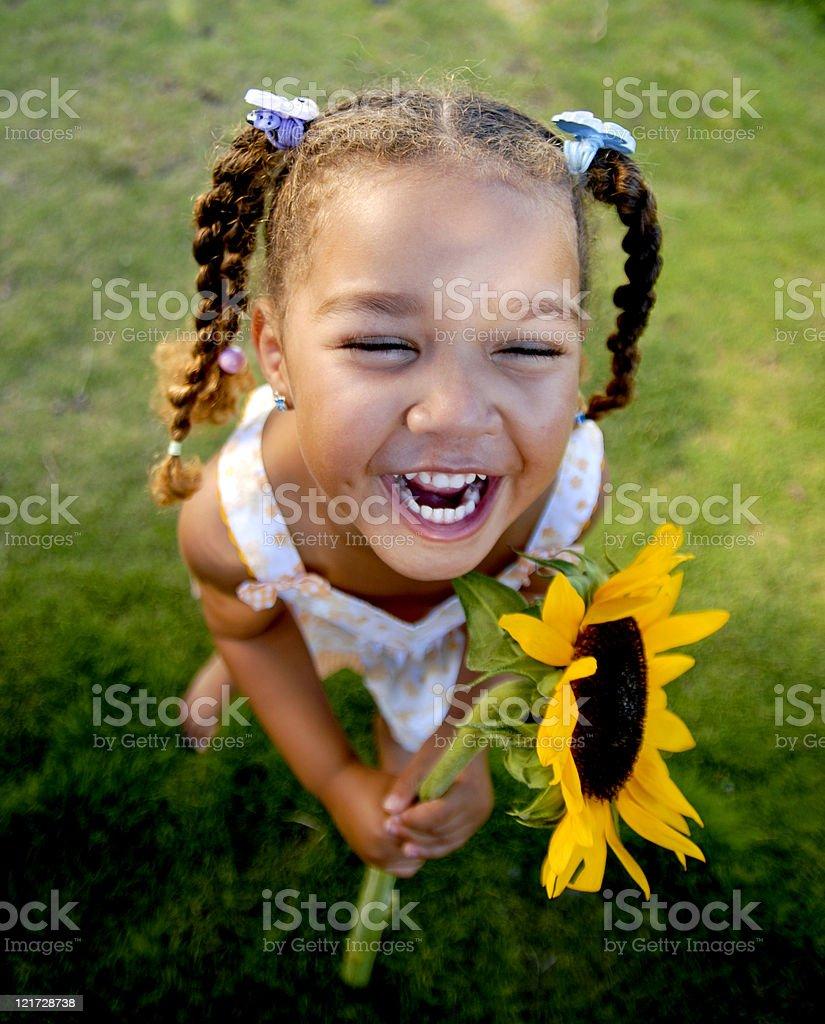 Sunflower Girl royalty-free stock photo