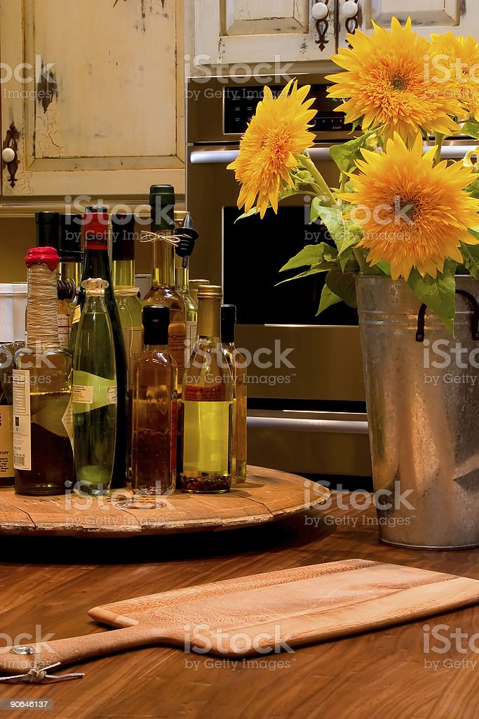 Sunflower Kitchen royalty-free stock photo