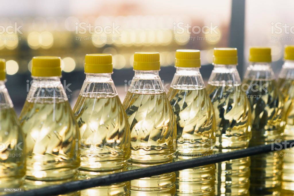 Sunflower Oil Factory stock photo