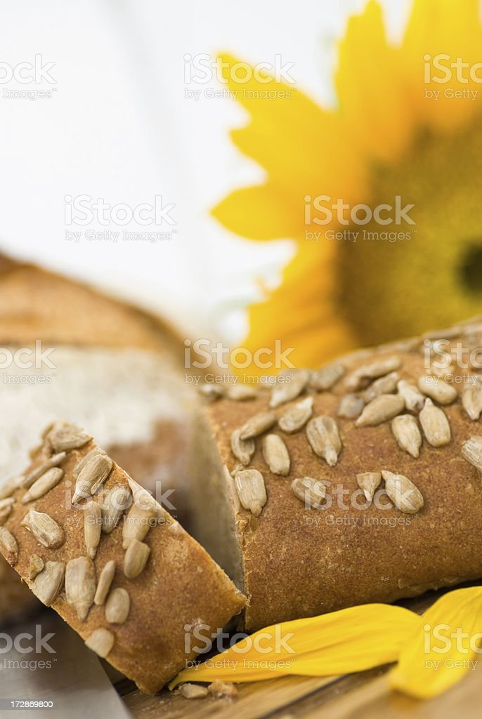 Sunflower seed bread royalty-free stock photo