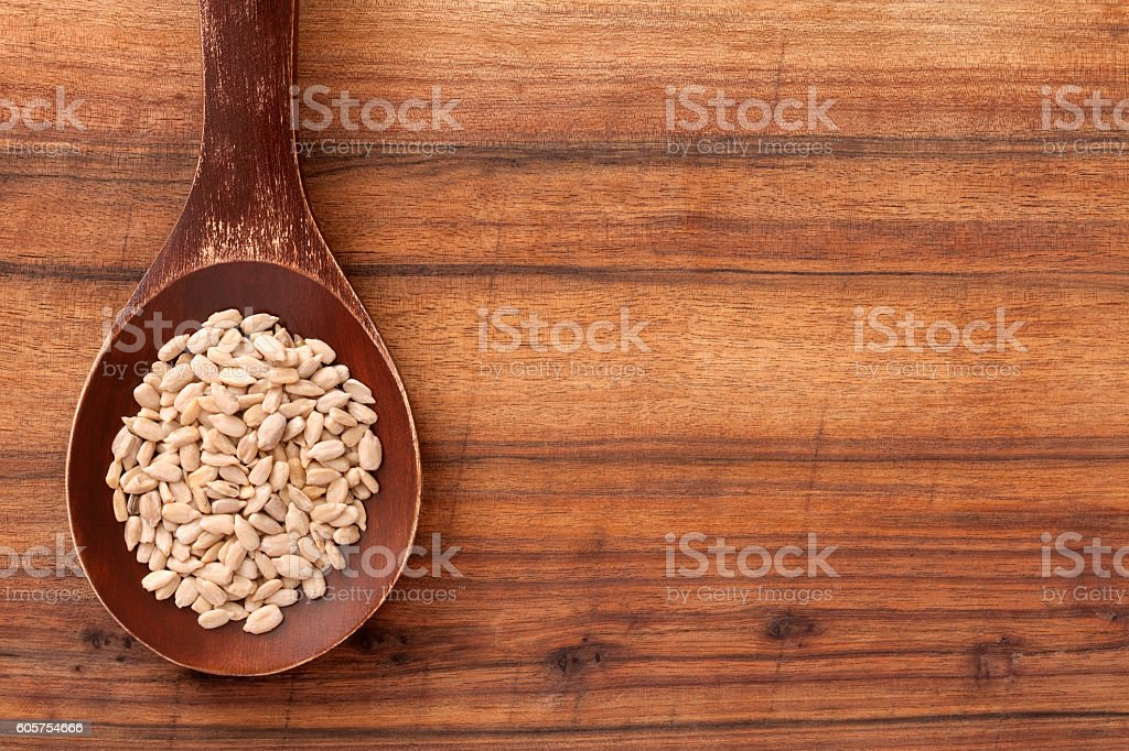 Sunflower seeds stock photo
