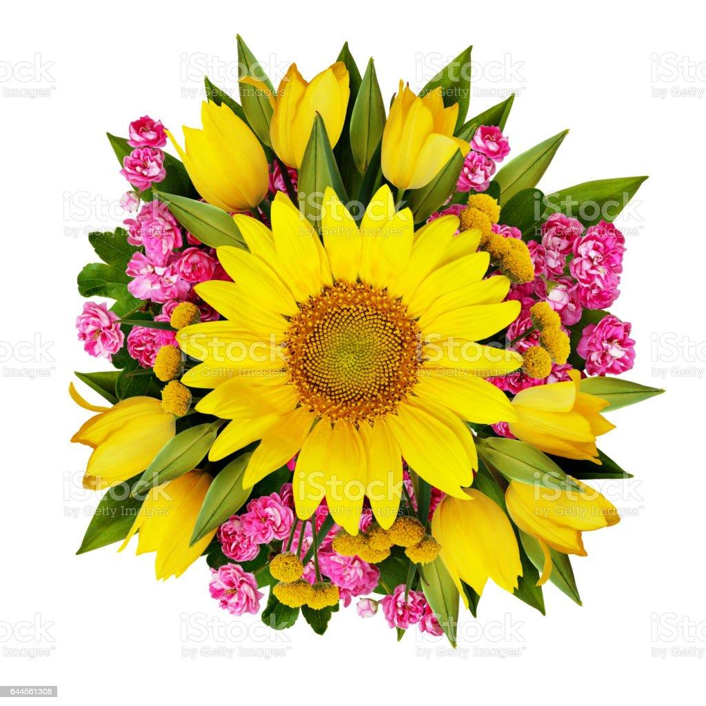 bouquet de fleurs de tournesol de tulipes et de lucas – photos et