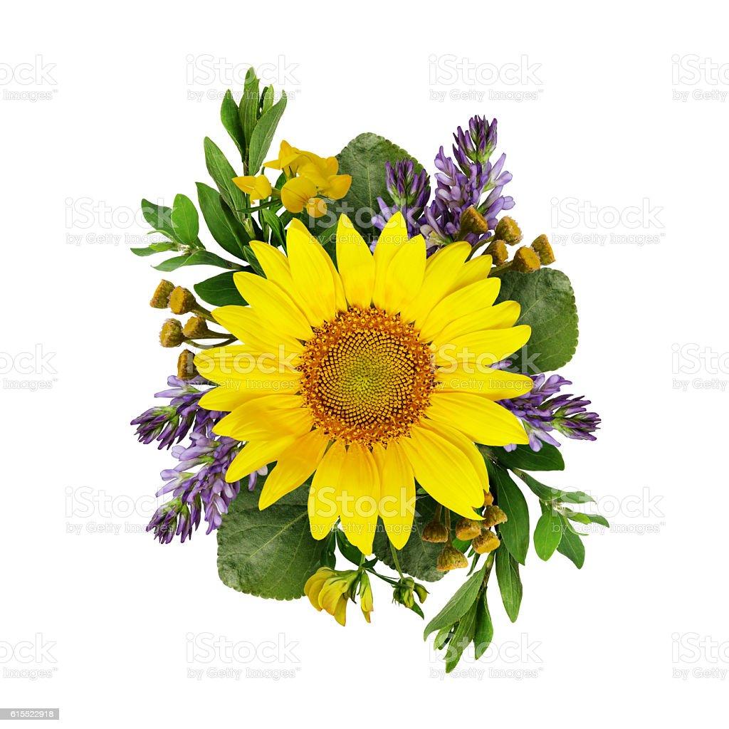 fleurs sauvages bouquet de tournesols et – photos et plus d'images