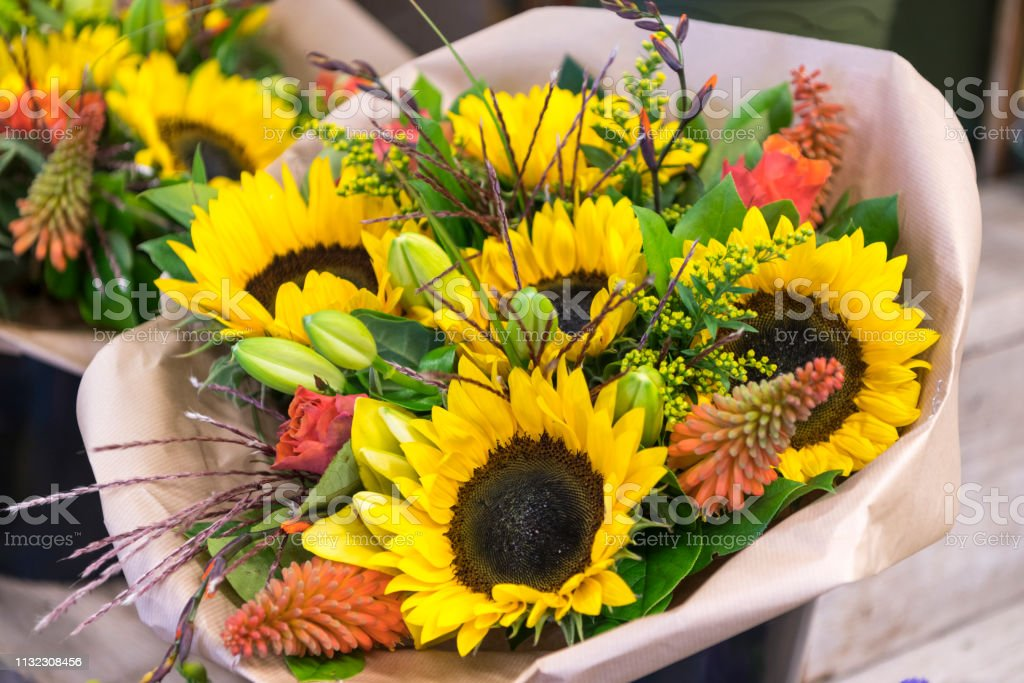 Sunflowers Arrangements Stock Photo Download Image Now Istock