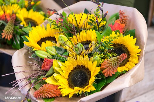 Sunflowers, Funeral, Flower, Frame, Coffin, Netherlands