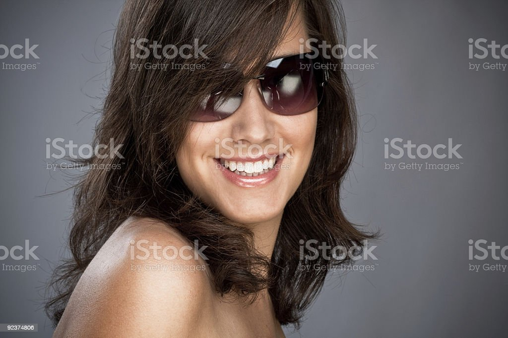 sunglasses and smile royalty-free stock photo