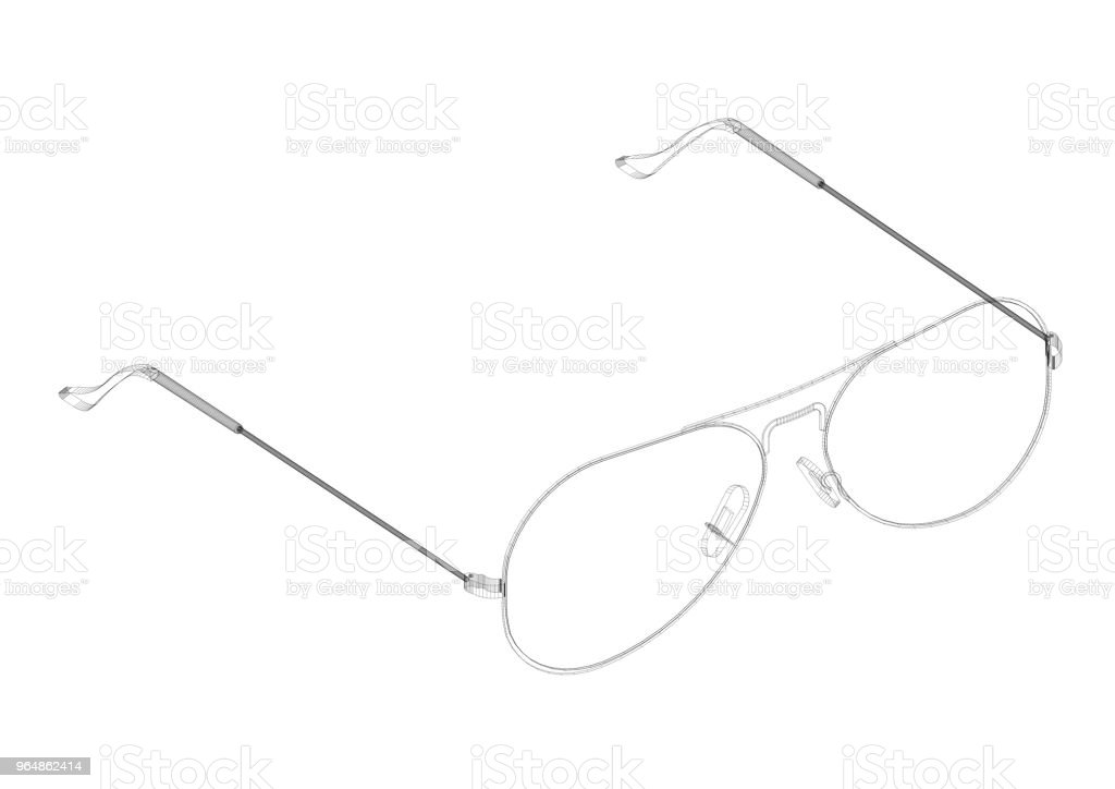 Sunglasses Architect blueprint - isolated royalty-free stock photo