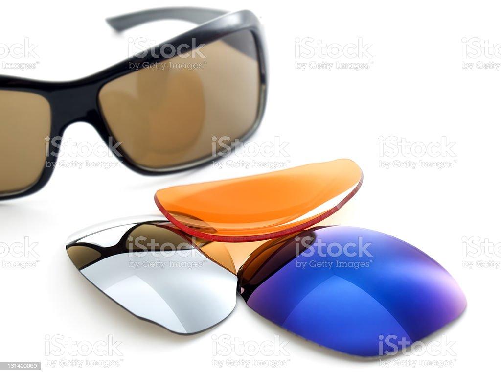 Sunglasses filters stock photo
