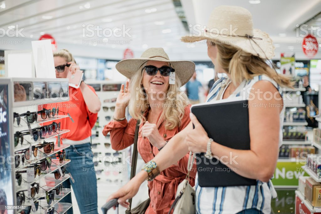 Sunglasses Fun in Duty Free stock photo