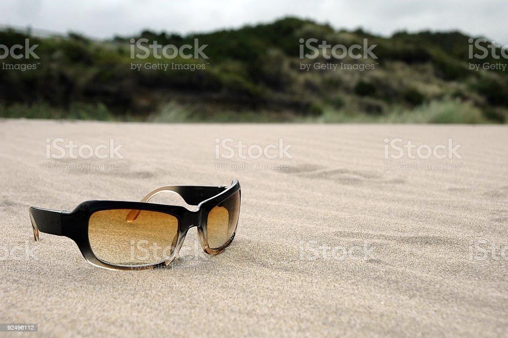 Sunglasses in the Sand 2 royalty-free stock photo