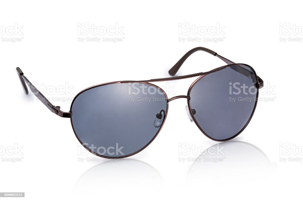 Sunglasses isolated on white background stock photo