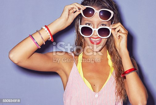 istock Sunglasses, like red lipstick change everything 530934918