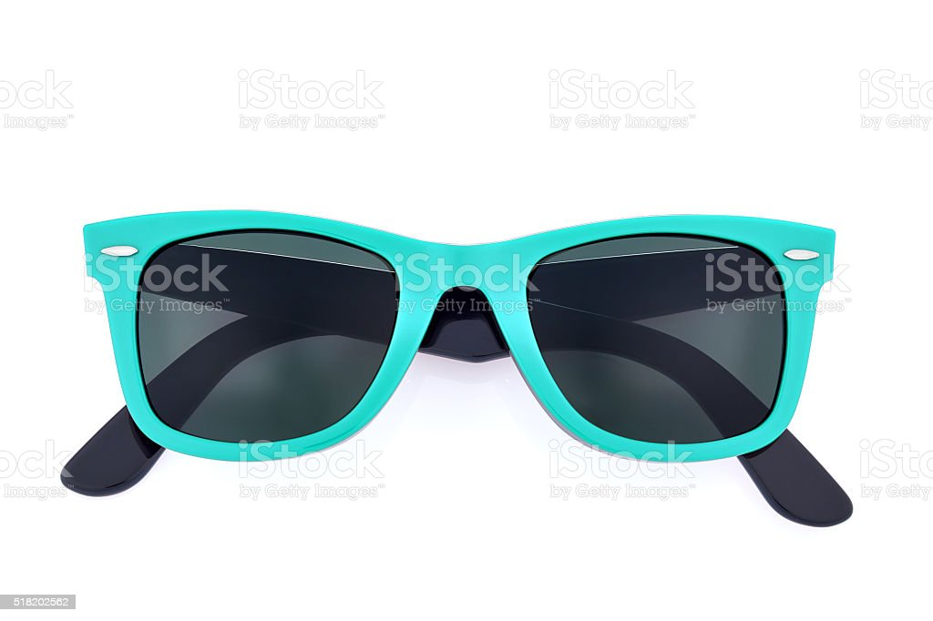 Sunglasses on white background stock photo