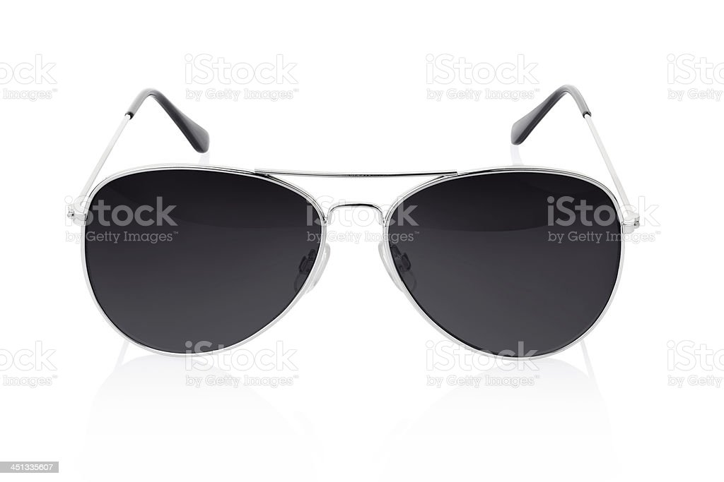 Sunglasses on white stock photo