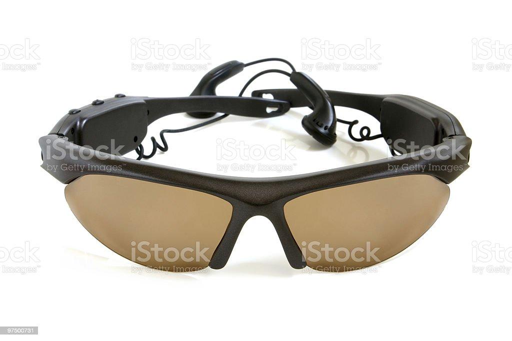 Sunglasses with earphones royalty-free stock photo