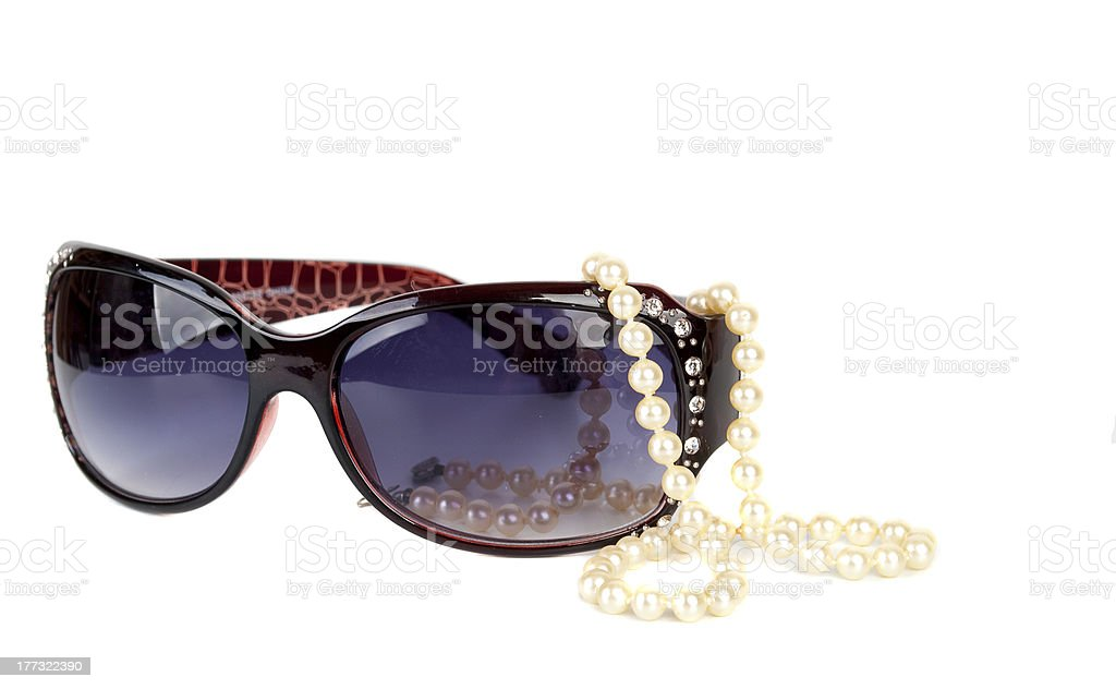 Sunglasses  with pearl royalty-free stock photo