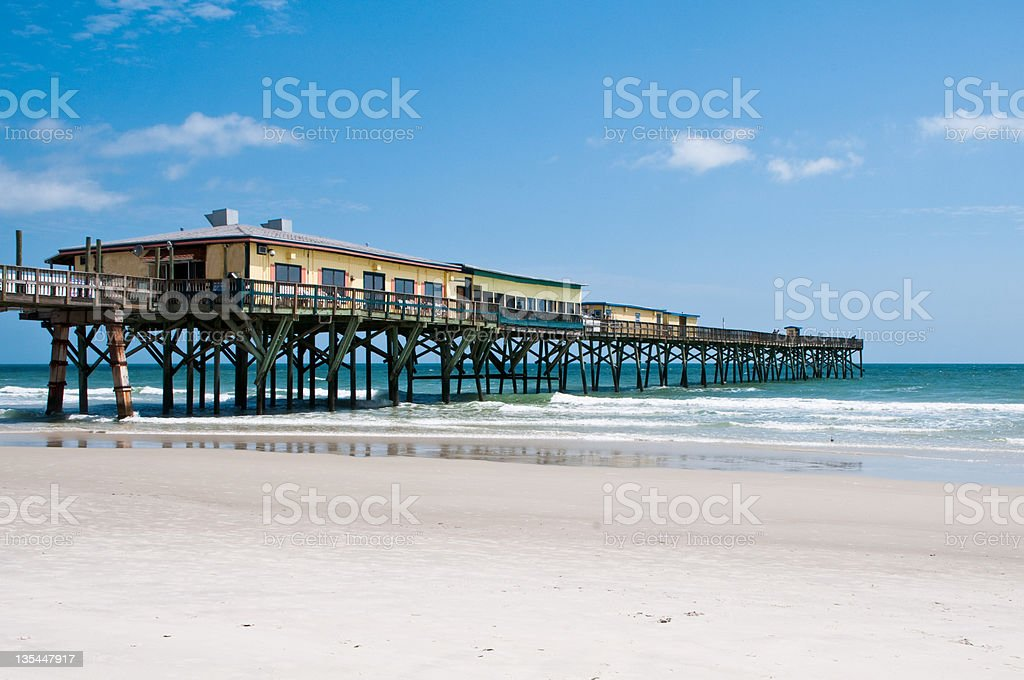 Sunglow Pier, Daytona Beach, Florida stock photo
