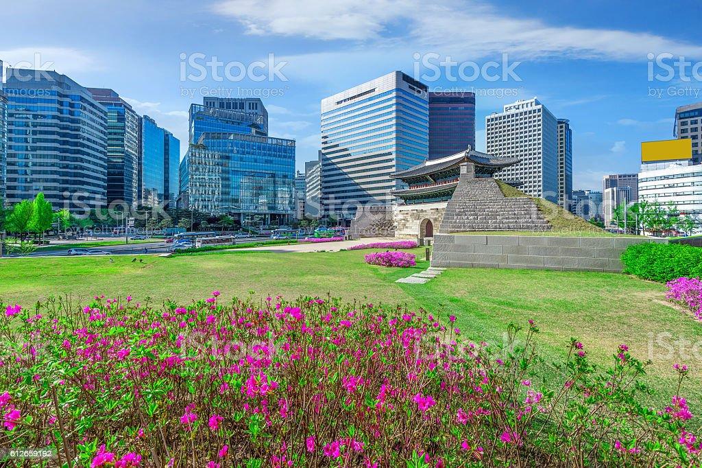 Sungnyemun gate (Namdaemun Market) in Seoul, stock photo