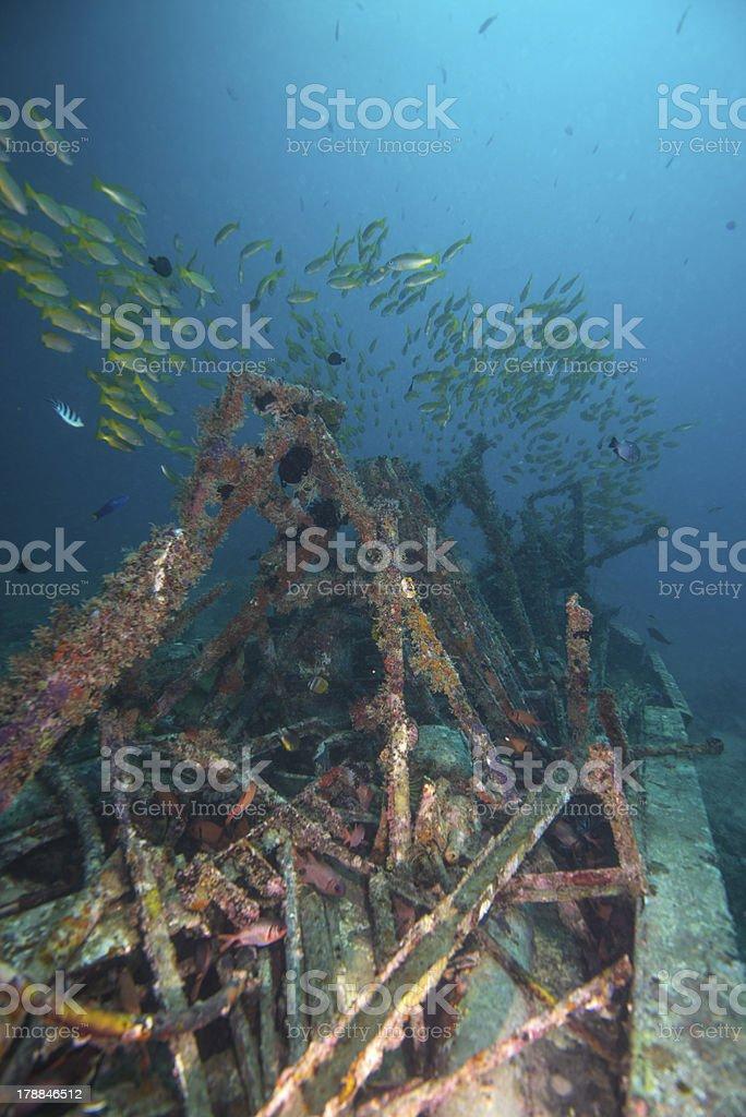 Sunk boat royalty-free stock photo