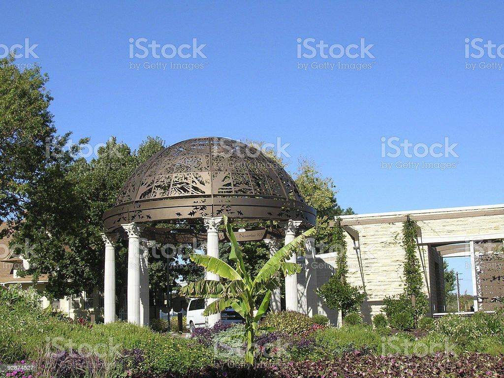 Sunken Gardens in Lincoln, Nebraska stock photo