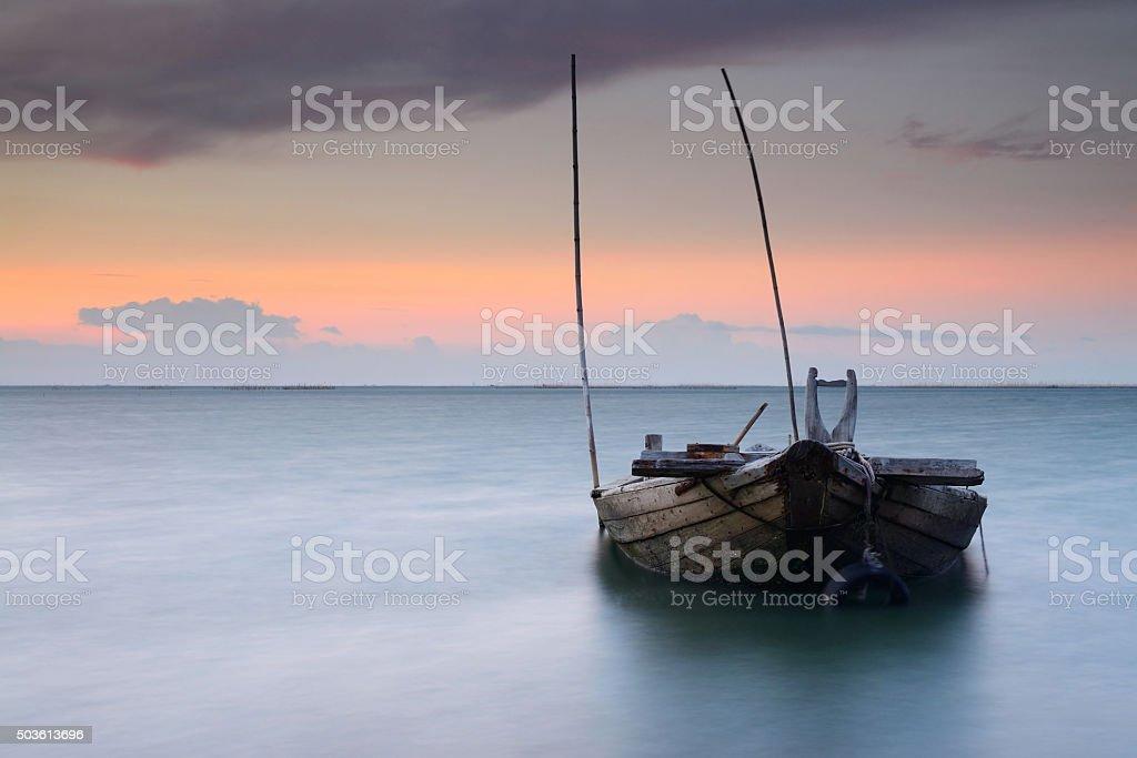 Sunken wrecks stock photo