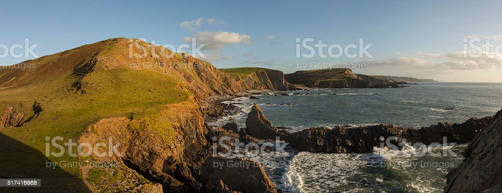 Sunkissed cliffs stock photo