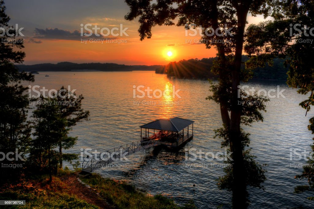 Sun-kissed Dock stock photo