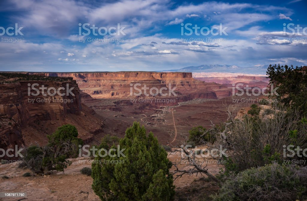 Sunlight and Shadows in Canyonlands National Park stock photo