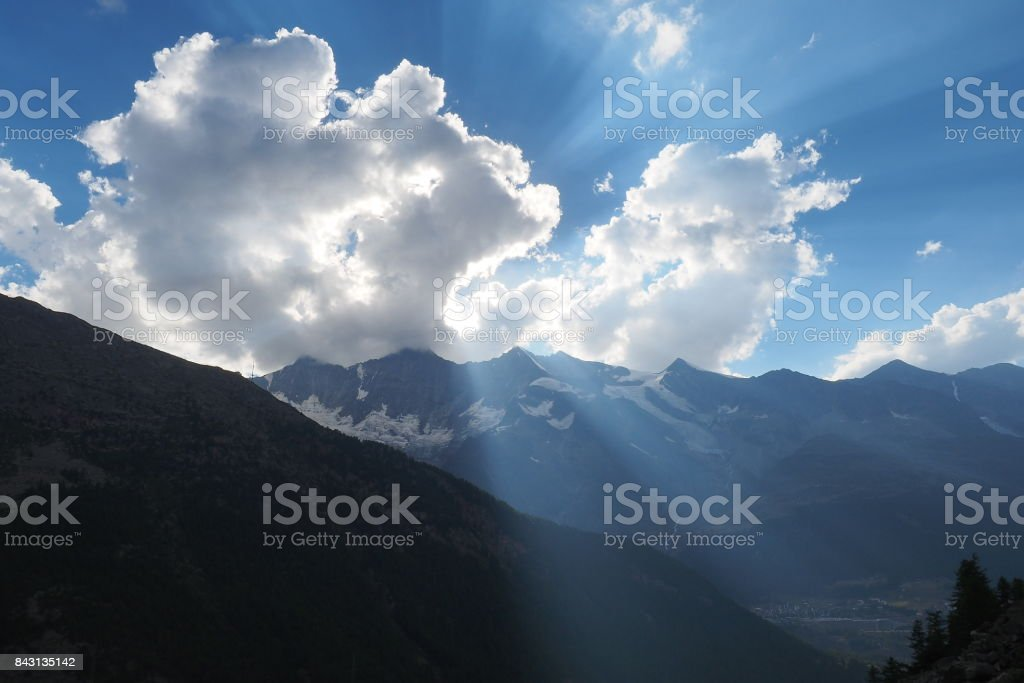 Sunlight Breakthrough stock photo