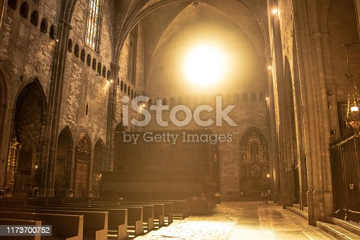 Sunlight entering a church creating a beautiful atmosphere