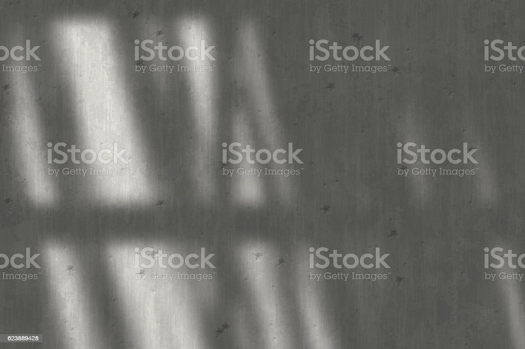 Sunlight Falling On concrete wall stock photo