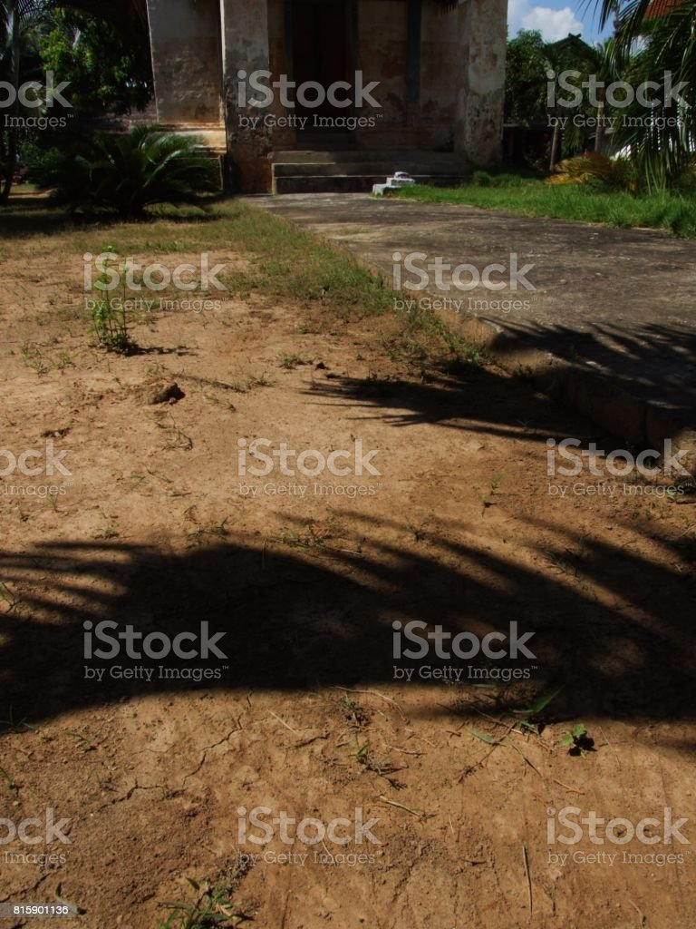 Sunlight falling on  floor stock photo