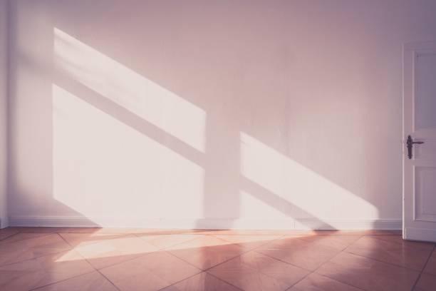 Sonnenlicht auf Wand - leeren Raum alte Fotostil - Wohnung – Foto